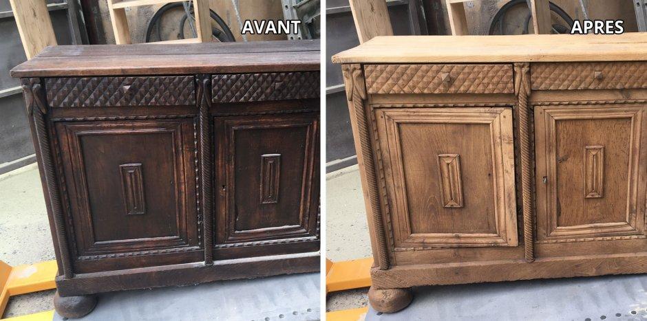 Sablage meuble ancien