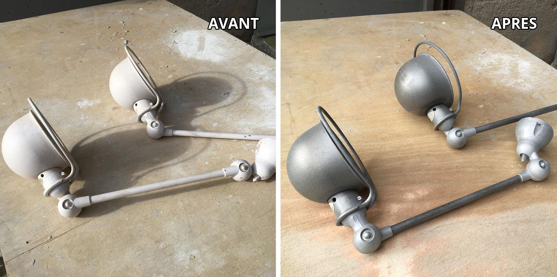 Sablage objet métallique